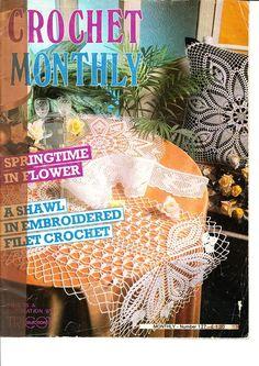 Crochet Monthly 127 - Lita Z - Picasa Web Albums Crochet Symbols, Crochet Chart, Filet Crochet, Crochet Motif, Crochet Designs, Crochet Doilies, Knit Crochet, Doilies Crafts, Crochet Books