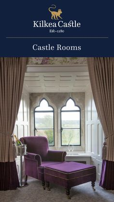 Pretend you are a King or Queen and stay in one of our elegant and spacious Castle Rooms that overlook our beautiful rose garden. Castle Hotels In Ireland, Castles In Ireland, Castle Rooms, Castle Bedroom, Lodge Bedroom, Lodges, Bedrooms, King, Queen