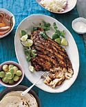 Grilled Tuna Steaks with Japanese Marinade from Martha Stewart - this is NOT the correct picture