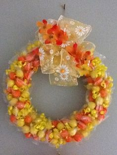 Spring candy wreath by Sarah