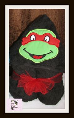 Ninja Turtle Hooded Bath towel by tinialabini on Etsy, $20.00