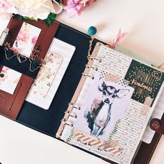 When I first saw this beautiful deer in @lenixleni Planner I knew I would have to use it to set up my Filofax in a fall theme - so here it is.  A Fall theme is absolutely perfect for this Planner and love it more and more everyday (if that is even possible)  (The deer is from joanneyoung on deviantart)