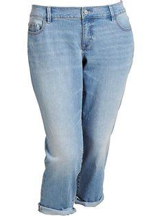 Women's Plus Slim Boyfriend Jeans Product Image