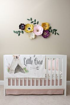 Hey, I found this really awesome Etsy listing at https://www.etsy.com/listing/474720140/aztec-floral-crib-bedding-baby-girl
