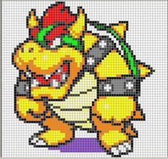 Mario bros punto de cruz patrones - Imagui