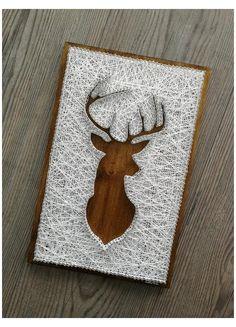 String Art Templates, String Art Tutorials, String Art Patterns, String Art Diy, String Crafts, Hilograma Ideas, Thread Art, Christmas Templates, Pin Art