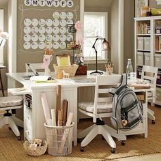 bureau ado design pour fille en blanc