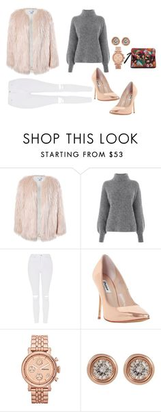 """""""Untitled #543"""" by taggedbykimmie15 on Polyvore featuring Sans Souci, Warehouse, Topshop, Dune, FOSSIL and Ron Hami"""