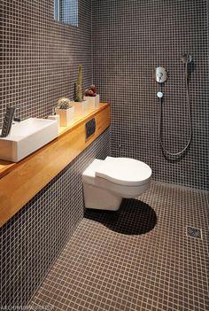 Nowoczesny prysznic bez brodzika