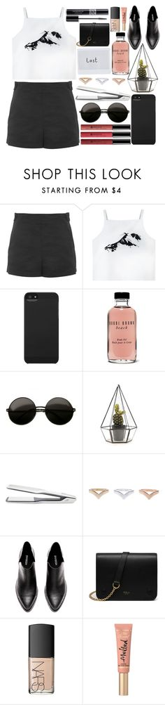 """..."" by dzchocolatess ❤ liked on Polyvore featuring Topshop, Borghese, Incase, Bobbi Brown Cosmetics, T3, Mulberry, NARS Cosmetics, Christian Dior and Too Faced Cosmetics"