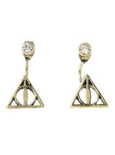 Harry Potter Deathly Hallows Top & Bottom Earrings | Hot Topic