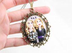 Best friends custom jewelry custom family portrait