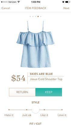 Stitch Fix Skies are blue Josue Cold Shoulder Top