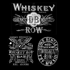 Instagram media by glennwolk - Graphics for Whiskey Row, Dierks Bentley's restaurant/ bar music venue. For Bravado/Universal. #graphicdesign #typography #watercolor #handpainted #vintage #logo #fashion #country #countrymusic