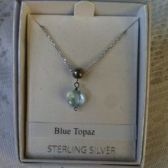 New Blue Topaz Sterling Silver Necklace New Brand new in box. Priced at my lowest up front. Offers not accepted.  Jewelry Necklaces