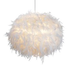 Colours Melito White Feathered Light Shade, (D)40cm | Departments | DIY at B&Q