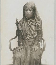 Aceh, Sumatra, Indonesia. Woman from the Tengku Panglima Polem family.
