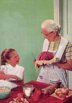 Makin' brain pie with Grandma
