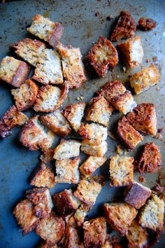 How To Make Incredible Homemade Croutons from Stale Bread! Try using Jimmy John's Day Old!