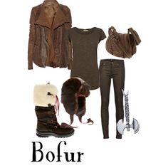 """Bofur ~ """"add a patch work scarf the matches color scheme."""""""
