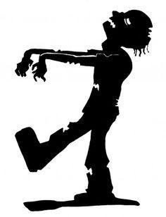 silhouette zombie   zombie silhouette