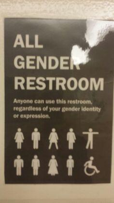 Public rest room  mature mom
