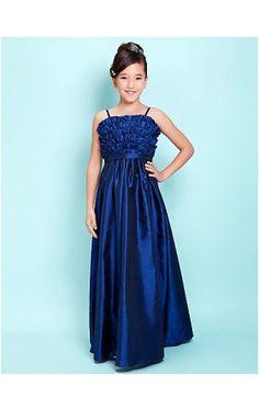 767e5f905 A-line Spaghetti Straps Floor-length Taffeta Junior Bridesmaid Dress Dresses  2013, Dresses