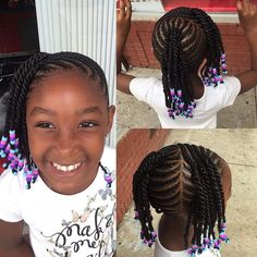 Majority of these hair-styles are all fairly simple as well as are good for novices, fast and easy toddler hair-styles. Little Girl Braid Styles, Kid Braid Styles, Little Girl Braids, Braids For Kids, Girls Braids, Little Girls Natural Hairstyles, Lil Girl Hairstyles, Black Kids Hairstyles, Kids Braided Hairstyles