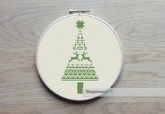 Christmas cross stitch pattern. Modern christmas tree.    The pattern comes as a PDF file that youll will be able to download immediately after