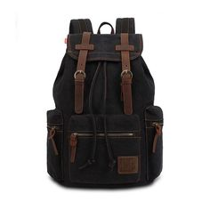 26.28$  Buy here - http://aim26.worlditems.win/all/product.php?id=32733126113 - 2017 Vintage Canvas Backpack Rucksack Casual Travel Bag Large Schoolbag Laptop Top Quality Free Shipping Mochilas Escolares P425