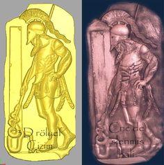 Greek Warrior Stela relief design