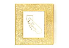 California State Map Print, Gold Foil, Home Town State Map Print, Bedroom Wall Art, Poster