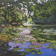 LakeLilies by Jan Schmuckal Oil ~ 8 x 8