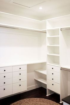 walk-in closet - the reveal Turn an ordinary closet into extraordinary without breaking the bank.Turn an ordinary closet into extraordinary without breaking the bank. Closet Redo, Walk In Closet Design, Bedroom Closet Design, Closet Remodel, Master Bedroom Closet, Closet Designs, Closet Space, Closet Ideas, Bathroom Closet