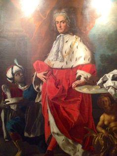 Ritratto di Guglielmo Ruffo principe di Scilla in veste di gran camerario del Regno di Napoli- Francesco De Mura 1738