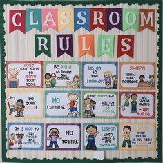 English Classroom Decor, Classroom Wall Decor, Classroom Walls, English Classroom Posters, Classroom Rules Display, Kindergarten Classroom Rules, Preschool Rules, English Kindergarten, Class Rules Poster
