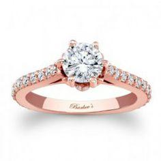 Rózsaszín arany eljegyzési gyűrű /  Rose gold engagement ring