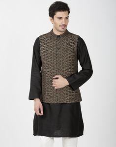 Silk Printed Nehru Jacket