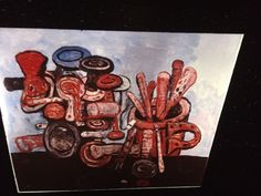 "Philip Guston ""poised 1978"" Abstract Expressionism 35mm Art Slide  