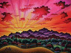 """""""Riding Beneath a Santa Fe Dawn"""" Kim Wiggins"""