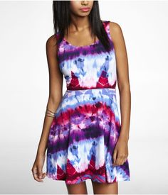 AZTEC PRINT SKATER DRESS | Express. Perfect for fall.
