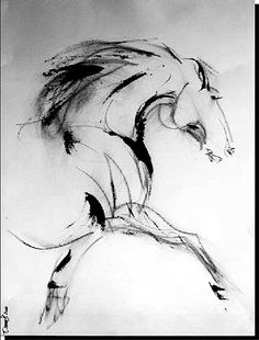 horse art, wall art, by Donna B, equestrian, black and white, designer interior, home decor
