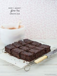 ... ooey gooey gluten-free brownies ...