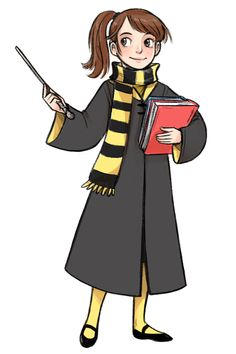 the-sweetest-badass asked: Your art is so beautiful I wanna cry. Do you think you can draw yourself as a Hogwarts student? In which house would you be? courtneygodbey: Awww, thanks! :) And Hufflepuff, for sure!