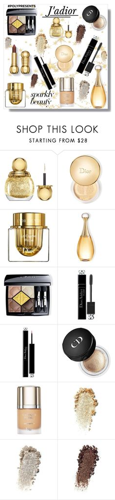 """""""#PolyPresents: Sparkly Beauty"""" by krista-zou on Polyvore featuring beauty and Christian Dior"""