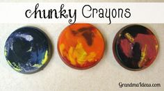 Use old broken crayons to make chunky ones for your family.