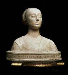 Francesco Laurana - Battista Sforza, Duchess of Urbino, bust