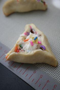 Birthday Cake Hamantashen...maybe one day we will have a Purim baby birthday to celebrate lol