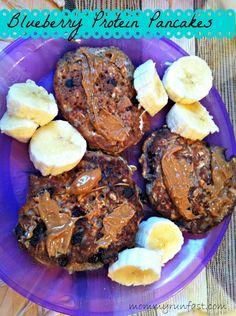 Blueberry Protein Pancakes @Laura Peifer #food #recipe