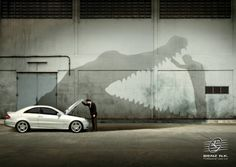 Mercedes Benz Car Advert - Aligator